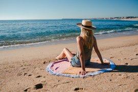 Upcycling Beachtowel Roundie Handtuch Strandtuch selbermachen basteln DIY Blog