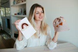 DIY Babybonnet Babygeschenk Basteln Sticken Naehen Selbermachen DIY Blog