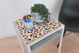 Terrazzo Beistelltisch IKEA Hack Pilot 4